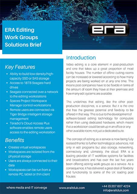 ERA Seagate Editing Work Groups Solutions Brief